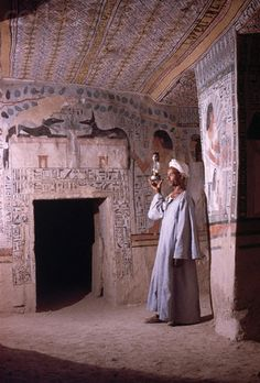 Painting and Hieroglyphics in Egyptian Tomb
