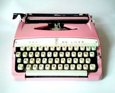 Custom Pink Brother Deluxe Typewriter by ClaireLaSecretaire, $310.00