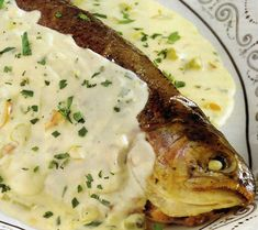 peste la cuptor Carne, Mashed Potatoes, Food And Drink, Fish, Chicken, Cooking, Ethnic Recipes, Salmon, Salads