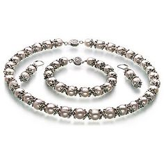 PearlsOnly MarieAnt White 8-9mm A Freshwater Pearl Set