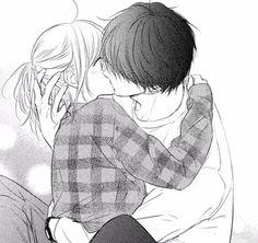 Couple Manga, Anime Couple Kiss, Anime Kiss, Anime Couples Drawings, Anime Couples Manga, Anime Couples Hugging, Manga Anime, Romantic Anime Couples, Cute Anime Coupes