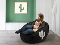 Cactus bean bag cover Cactus lounge chair Cactus chair