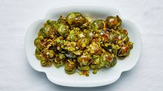 Brussel sprouts with pistachio and lime- Bon Appetit Nov 2019 Best Thanksgiving Recipes, Thanksgiving Menu, Vegetarian Thanksgiving, Raw Pistachios, Lime Recipes, Veggie Recipes, Veggie Dishes, Yummy Recipes, Vegetables