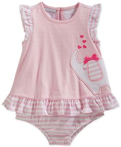 First Impressions Baby Girls' Stripe & Elephant Sunsuit, Only at Macy's - Baby Girl (0-24 months) - Kids & Baby - Macy's