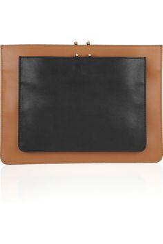 Marni Two-tone leather clutch