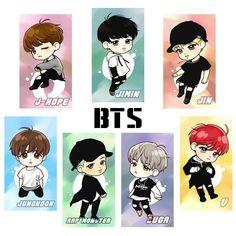 Bts Chibi, Anime Chibi, Kawaii Anime, Bts Jungkook, Foto Bts, Bts Photo, Bts Army Logo, Bts Tattoos, Bts Birthdays