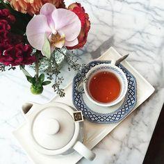 Cherish the simple things. Flowers + tea never let me down. Never Let Me Down, Let It Be, Simple Things, Yummy Food, Tableware, Instagram Posts, Flowers, Morning Coffee, Dinnerware