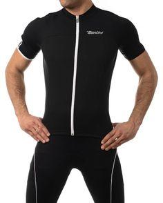 Santini 365 Tempo Short Sleeve Cycling Jersey - Black  ff9e954d5