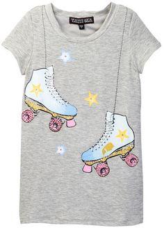 Girls skates tee
