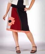 Vintage Appliqué Tee shirt skirt - love the curvy lines