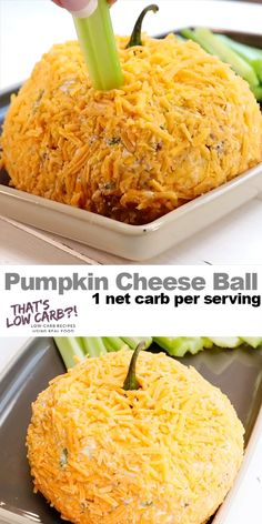 Pumpkin Cheese Ball is the per dip-worthy take along for your next get together. 'Tis the season for an awesome pumpkin-shaped zesty appetizer that your guests won't be able to stop eating. food for party videos appetizers dip recipes Pumpkin Cheese Ball Entree Halloween, Halloween Appetizers, Thanksgiving Appetizers, Halloween Food For Party, Keto Thanksgiving Dinner, Pumpkin Cheese Ball Recipe, Cheese Ball Recipes, Cheese Pumpkin, Pumpkin Pumpkin
