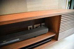 テレビの隠蔽配管と造作テレビボードの工夫 | わんこと暮らすモダンインテリア Storage, Furniture, Home Decor, Purse Storage, Decoration Home, Room Decor, Larger, Home Furnishings, Home Interior Design