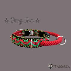Paracord professional adjustable dog collar with the handle