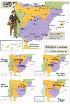 uploaded this image to 'Fotos-Imagenes'. See the album on Photobucket. Historical Maps, Historical Pictures, World History, Art History, Spanish War, Bible Mapping, Guernica, History Facts, Military History