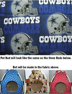 Beds Hammocks and Nesters 149074: Small Dallas Cowboys #2 Pup Tent Pet Bed/ Cat Bed/ Dog Bed/ Toy Box/ Doll Tent BUY IT NOW ONLY: $35.0