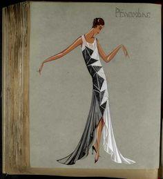Robe Pénombre, Paris 1929, copyright Patrimoine Lanvin #JeanneLanvin #Lanvin