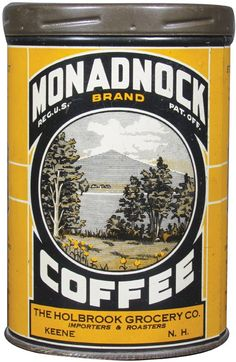 Rare Monadnock Brand 1# Coffee Tin : Lot 3