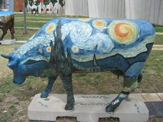 One of the many Starry Night cows. This one, truest to the original, is by Tank.
