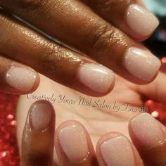 Natural Short Overlay Nails Acrylic Gel