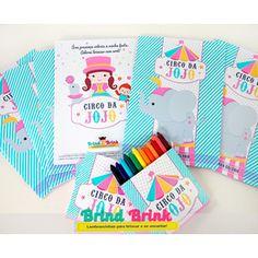 Circo Menina - Kit Colorir Personalizado www.brindbrink.com