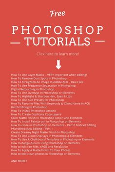 REPIN THIS - Have you ever felt so frustrated with Photoshop that you wish there was one place with a large FREE list of video tutorials to get you pro in no time?  See here