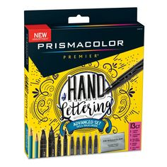 Take the artsy side of writing to the next level with the Prismacolor Premier Advanced Hand Lettering Kit. It includes two graphite pencils, seven illustration markers, two dual-ended art markers, a kneaded eraser, and a tips booklet. Marker Kunst, Marker Art, Birthday Gifts For Teens, Best Birthday Gifts, Birthday Ideas, Prismacolor, Kneaded Eraser, Drawing Letters, Drawing Art