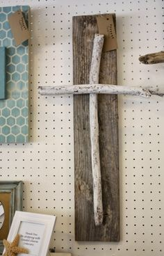 easter driftwood cross from Coastal Charm