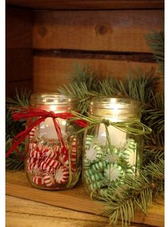 Christmas, being the warmest holiday season inspires us to cherish memories and spread joy towards everyone we know. Friends, family and even to a total stranger, we have this positive vibes that we would like to share with them. Indeed,… Peppermint Candy, Christmas Candles, Christmas Decor, Christmas Ideas, Christmas Time, Mason Jars, Merry, Christmas Baskets, Custom Glass