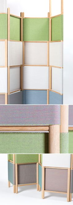 Loom Bound by Rive Roshan. In partnership with Kvadrat. The Loom Bound collection is a versatile and playful system using only simple, essential materials to create endless modular and mobile set–up possibilities for contemporary interiors. The design can be used to divide spaces, improve acoustics, create storage or add intimacy whilst adding tactility, colour and softness to any interior with this design. A fully assembled Loom Bound object can be reconfigured and reconstructed at any…