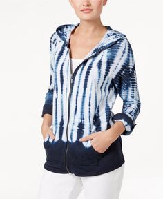 4e9f3915 Style & Co Tie-Dyed Hoodie, Only at Macy's & Reviews - Jackets & Blazers -  Women - Macy's