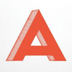 the letter A by JP Boneyard Design