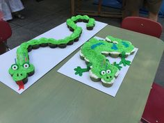 Snake and Geco cupcakes