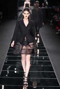 Don't hate her because she can pull this off. John Richmond RTW Fall 2012 - Milan. (Photo by Piero Cristaldi/WWD.)