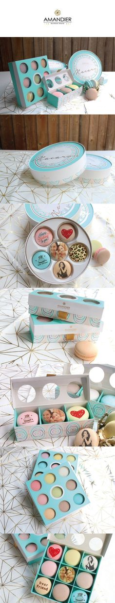 macarons AMANDIER's Macaron packaging Mehr One of the vine Macaroon Packaging, Cake Packaging, Packaging Design, Branding Design, Macaron Boxes, Macaron Cake, Cupcake Boxes, Box Design, Design Art