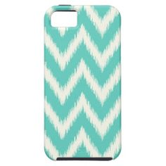 Aqua Ikat Chevron iPhone 5 Case