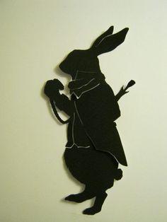 alice in wonderland rabbit silhouette - Google Search