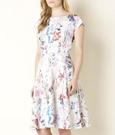Bloom Print Fit and Flare Dress | CC Fashion