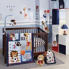 "Lambs & Ivy® Future All Star Blue/Gray Sports 4 Piece Crib Bedding Set - Lambs & Ivy - Babies ""R"" Us"