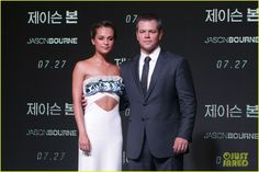Matt Damon & Alicia Vikandar Continue 'Jason Bourne' Press In South Korea!: Photo #3701520. Matt Damon is dapper in a suit while attending the premiere of his new film Jason Bourne held on Friday (July 8) in Seoul, South Korea.    The 45-year-old actor…