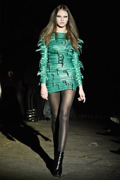 emerald strap dress