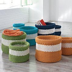 Knitted Basket, Set of 2