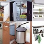 Phụ kiện tủ bếp hiện đại inox bền đẹp cho nhà bếp