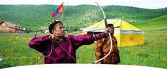 """Archery is one of """"the three games of men"""" of Mongolia. /source: Mongolian Secret History Travel Company/"""