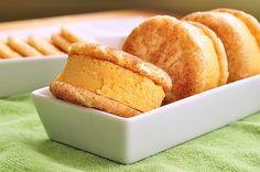 Snickerdoodle Pumpkin Ice Cream Sandwiches