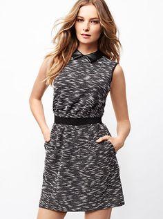 Mixed-media Knit Dress