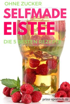 Eistee selber machen: Die besten zuckerfreien Rezepte No summer without iced tea! But did you know that bought around 20 cubes of sugar per liter ? Reason enough to do it yourself - these tips and re Sugar Free Recipes, Tea Recipes, Smoothie Recipes, Drink Recipes, Salad Recipes, Cake Recipes, Summer Drinks, Cocktail Drinks, Cocktails