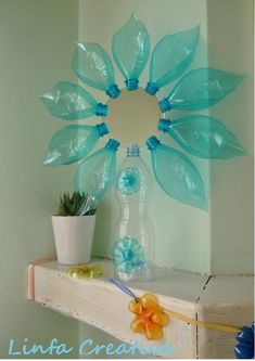 Plastic Bottles And Their Creative Applications - Best Craft Projects Reuse Plastic Bottles, Plastic Bottle Flowers, Plastic Bottle Crafts, Diy Bottle, Recycled Bottles, Recycled Crafts, Diy Arts And Crafts, Diy Craft Projects, Fun Crafts