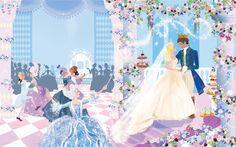 #illustration #fairytale #wedding #bride #married