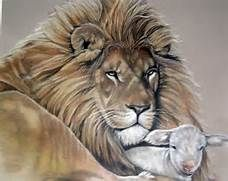 Lion And Lamb Drawing Related Keywords & Suggestions - Lion And Lamb ...
