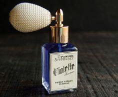 Violette Tincture tm - Violet Lavender Vanilla Perfume - Sweet Violet Florals - Atomizer Bottle -1 oz. via Etsy.